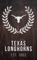 "Texas Longhorns 11"" x 19"" Laurel Wreath Sign"