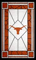 """Texas Longhorns 11"""" x 19"""" Stained Glass Sign"""