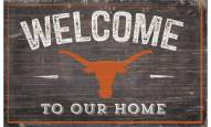 """Texas Longhorns 11"""" x 19"""" Welcome to Our Home Sign"""