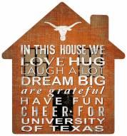 """Texas Longhorns 12"""" House Sign"""