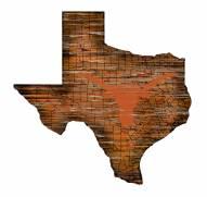 "Texas Longhorns 12"" Roadmap State Sign"