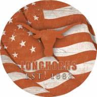 "Texas Longhorns 12"" Team Color Flag Circle Sign"