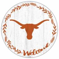 """Texas Longhorns 12"""" Welcome Circle Sign"""