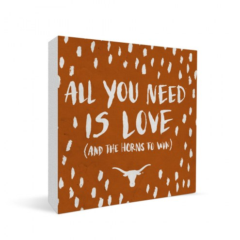 "Texas Longhorns 12"" x 12"" All You Need Canvas Print"