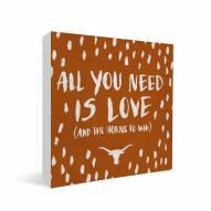 "Texas Longhorns 12"" x 12"" All You Need Canvas Print"