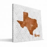 """Texas Longhorns 12"""" x 12"""" Home Canvas Print"""