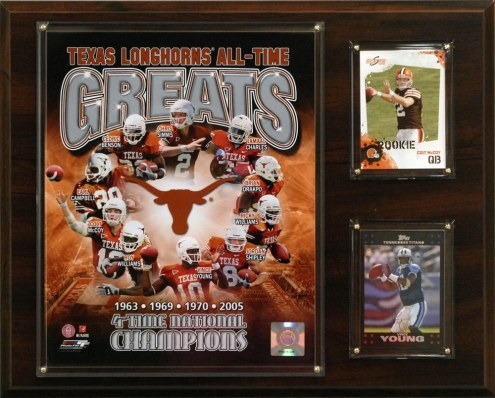 "Texas Longhorns 12"" x 15"" All-Time Greats Photo Plaque"