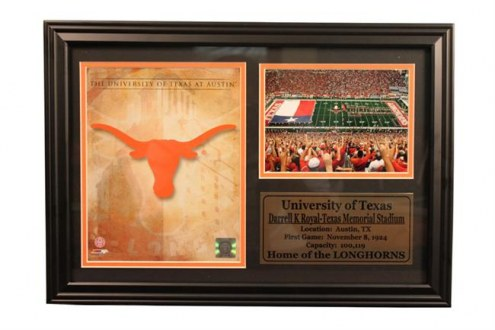 "Texas Longhorns 12"" x 18"" Photo Stat Frame"