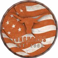 """Texas Longhorns 16"""" Flag Barrel Top"""