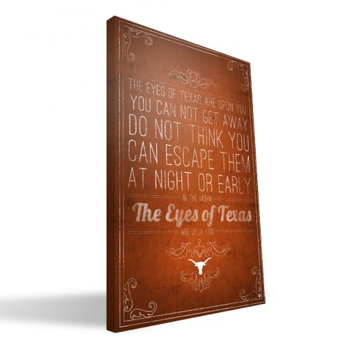 "Texas Longhorns 16"" x 24"" Song Canvas Print"