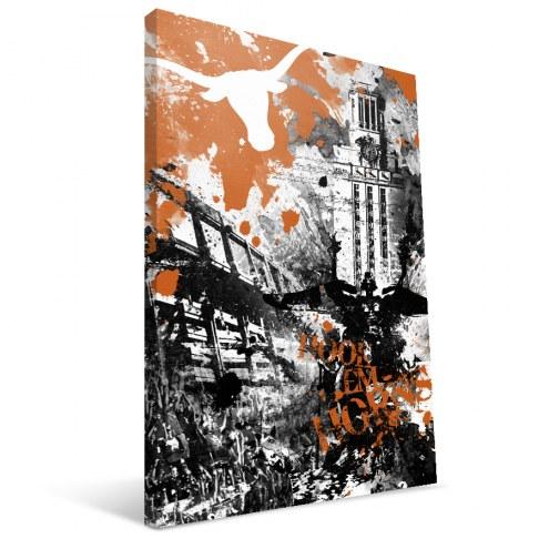 "Texas Longhorns 16"" x 24"" Spirit Canvas Print"
