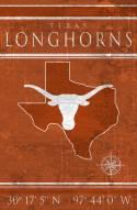 """Texas Longhorns 17"""" x 26"""" Coordinates Sign"""
