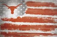 """Texas Longhorns 17"""" x 26"""" Flag Sign"""