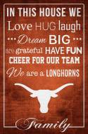 """Texas Longhorns 17"""" x 26"""" In This House Sign"""
