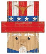 "Texas Longhorns 19"" x 16"" Patriotic Head"