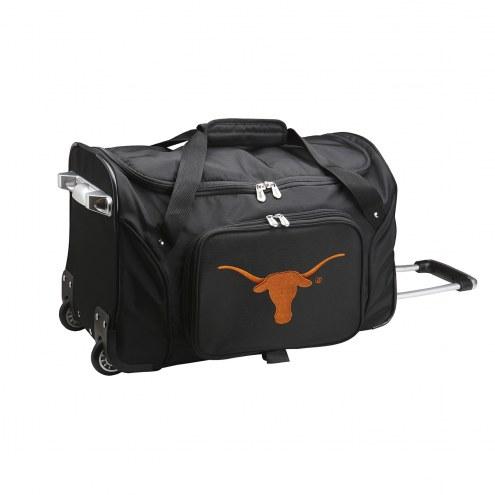 "Texas Longhorns 22"" Rolling Duffle Bag"