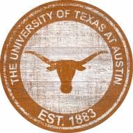 "Texas Longhorns 24"" Heritage Logo Round Sign"