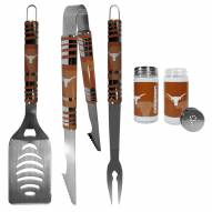 Texas Longhorns 3 Piece Tailgater BBQ Set and Salt and Pepper Shaker Set