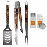 Texas Longhorns 3 Piece Tailgater BBQ Set and Salt and Pepper Shakers