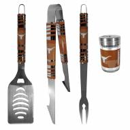 Texas Longhorns 3 Piece Tailgater BBQ Set and Season Shaker