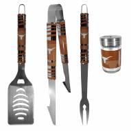 Texas Longhorns 3 Piece Tailgater BBQ Set and Season Shaker