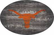 """Texas Longhorns 46"""" Distressed Wood Oval Sign"""