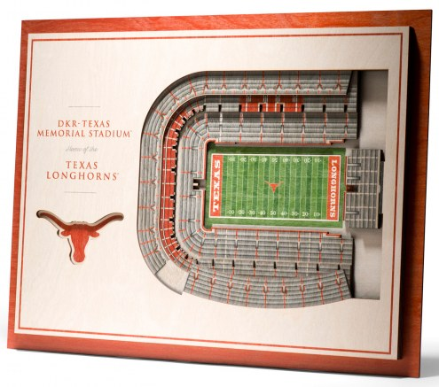 Texas Longhorns 5-Layer StadiumViews 3D Wall Art