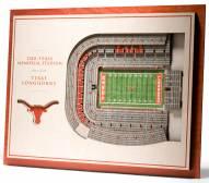 Texas Longhorns 5-Layer StadiumViews 3D Wall Art