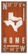 """Texas Longhorns 6"""" x 12"""" Coordinates Sign"""