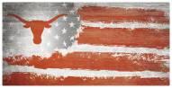 """Texas Longhorns 6"""" x 12"""" Flag Sign"""