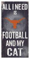 "Texas Longhorns 6"" x 12"" Football & My Cat Sign"