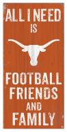 "Texas Longhorns 6"" x 12"" Friends & Family Sign"