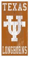 "Texas Longhorns 6"" x 12"" Heritage Logo Sign"