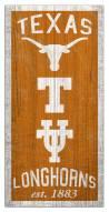 "Texas Longhorns 6"" x 12"" Heritage Sign"