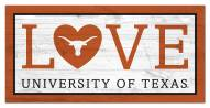 "Texas Longhorns 6"" x 12"" Love Sign"