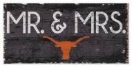 "Texas Longhorns 6"" x 12"" Mr. & Mrs. Sign"