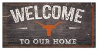 """Texas Longhorns 6"""" x 12"""" Welcome Sign"""