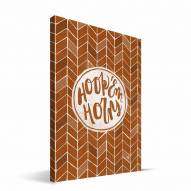 "Texas Longhorns 8"" x 12"" Geometric Canvas Print"