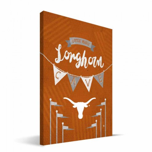 "Texas Longhorns 8"" x 12"" Little Man Canvas Print"