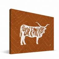"Texas Longhorns 8"" x 12"" Mascot Canvas Print"