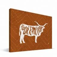 """Texas Longhorns 8"""" x 12"""" Mascot Canvas Print"""