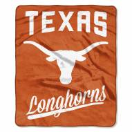 Texas Longhorns Alumni Raschel Throw Blanket