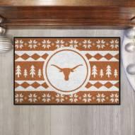 Texas Longhorns Christmas Sweater Starter Rug
