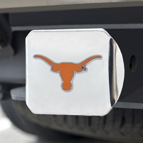 Texas Longhorns Chrome Color Hitch Cover