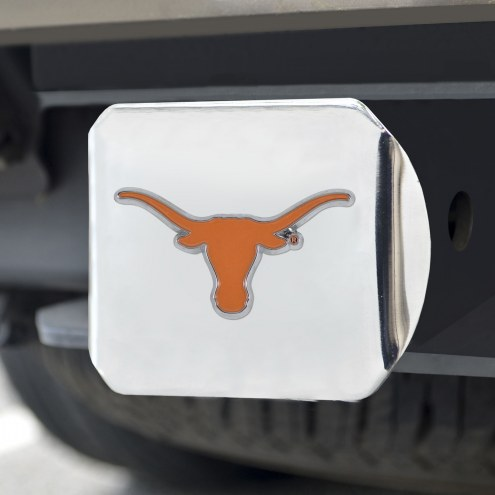 Texas Longhorns Chrome Color Hitch Cover