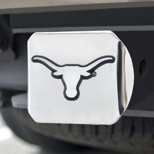 Texas Longhorns Chrome Metal Hitch Cover