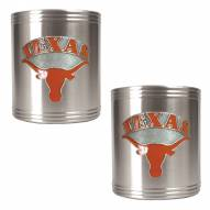 Texas Longhorns College Stainless Steel Can Holder 2-Piece Set