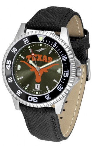 Texas Longhorns Competitor AnoChrome Men's Watch - Color Bezel