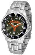 Texas Longhorns Competitor Steel AnoChrome Color Bezel Men's Watch