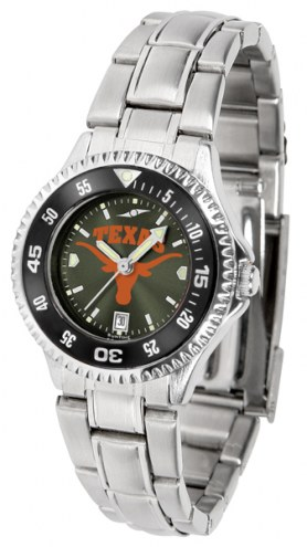 Texas Longhorns Competitor Steel AnoChrome Women's Watch - Color Bezel
